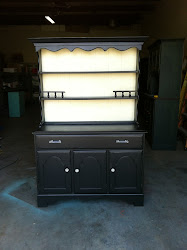 Black Shabby Chic Hutch **SOLD**