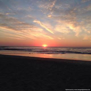 amanecer en la playa de Cariló