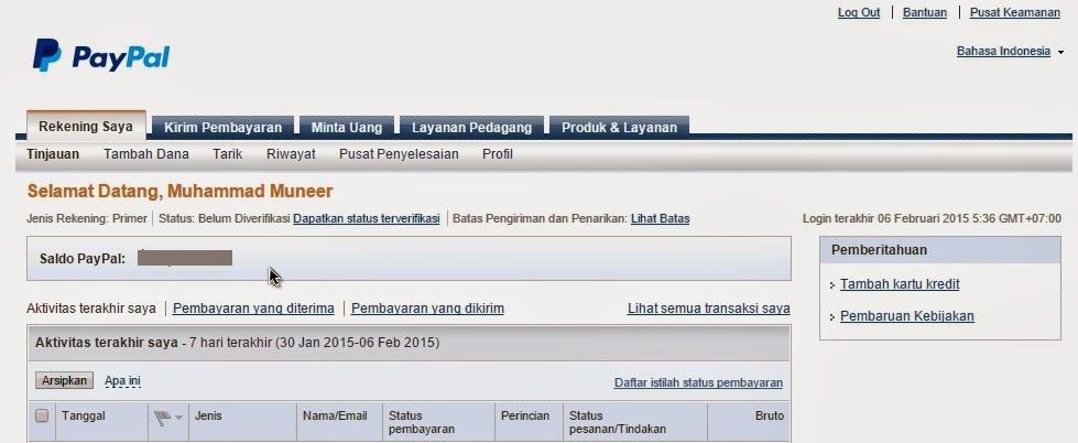 Cara Mudah Mendaftar PayPal sebagai Rekening Online