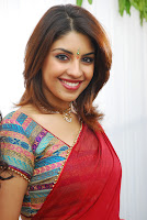 hot, sexy, Richa, Gangopadhyay, Red, saree