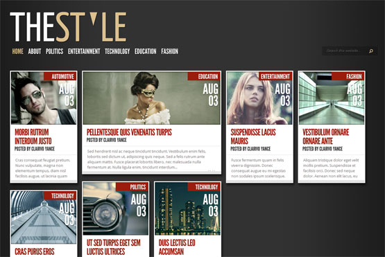 thestyle responsive blogger template