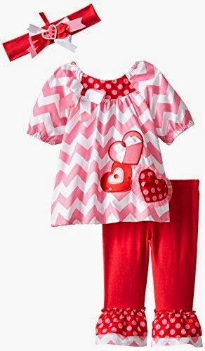 Rare Editions Baby Baby-Girls Newborn Heart Applique Legging Set