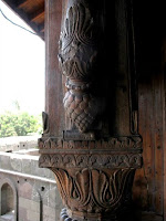 Exquisite pillars with carved teak wood