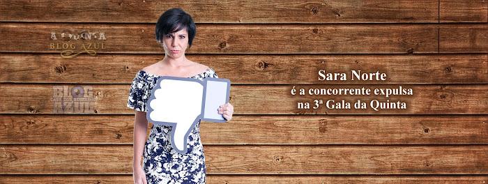 Sara Norte é a concorrente expulsa na 3ª Gala de 'A Quinta'.