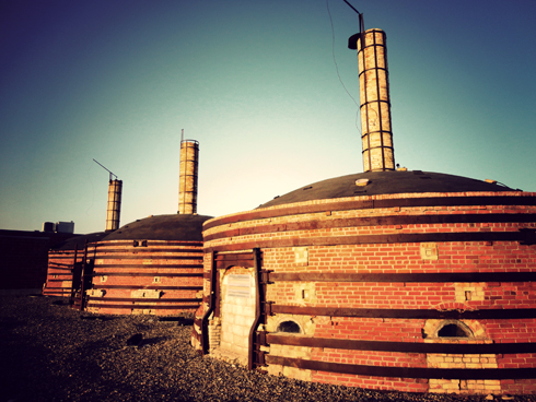 kilns at medalta potteries historic site in medicine hat alberta
