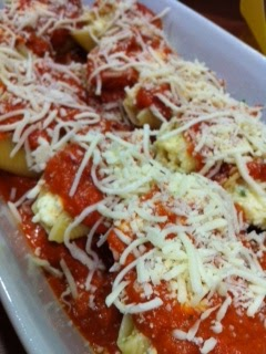 stuffed shells before being cooked