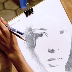 Transforme sua foto em um desenho feito amão