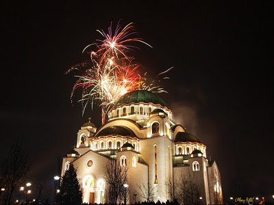 Orthodox New Year Fireworks.