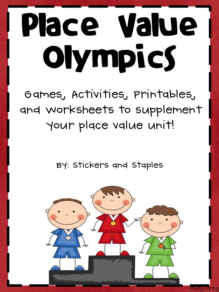 Stickers And Staples Place Value Olympics