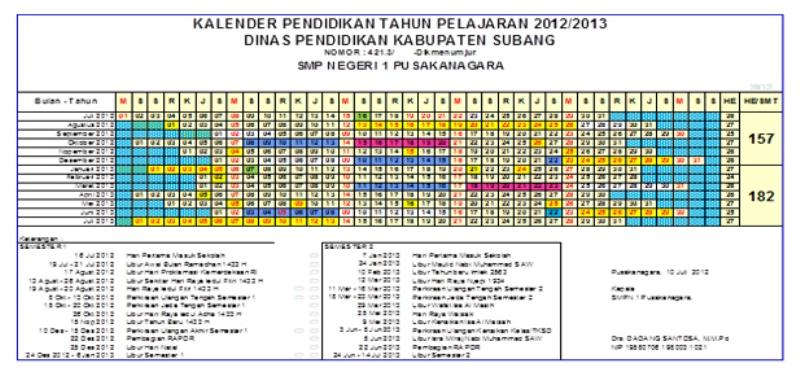 2013 di ditentukan pelajaran smp ajaran annajah 20132014 hari 2013