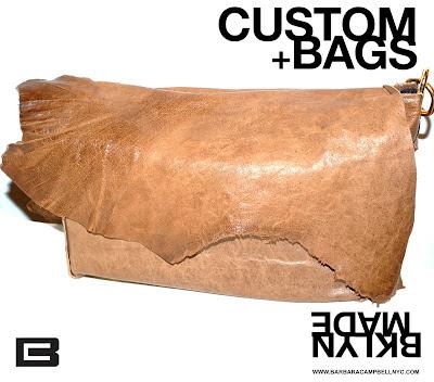Barbara Campbell Handmade Leather Brown/Tan Deconstructed Purse Handbag-Made In Brooklyn