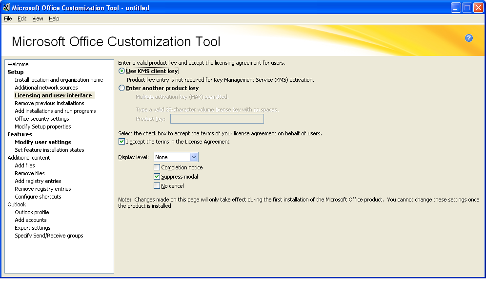change office 2010 license key from kms to mak