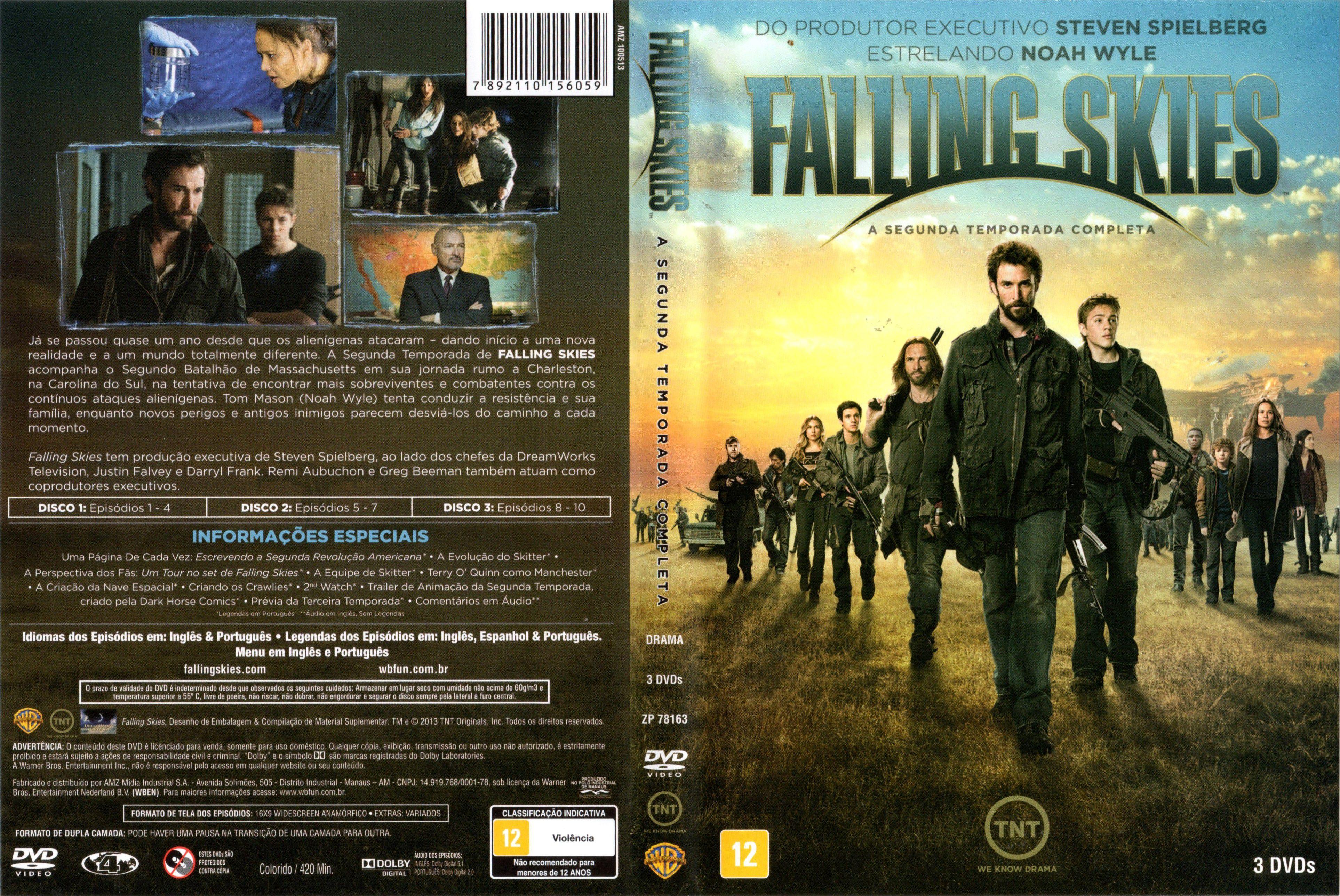Capa DVD Falling Skies 2ª Temporada Completa - Gamecover   Capas ...