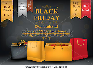 Black Friday poster for print, black friday sticker for printing
