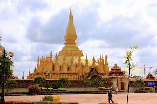 Gran stupa Pha That Luang (Vientiane, Laos)