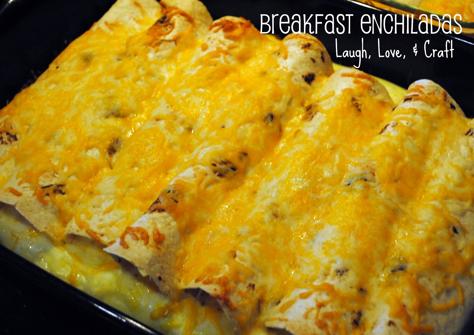 Laugh, Love, and Craft: Manic Monday Recipe~Brunch Enchiladas