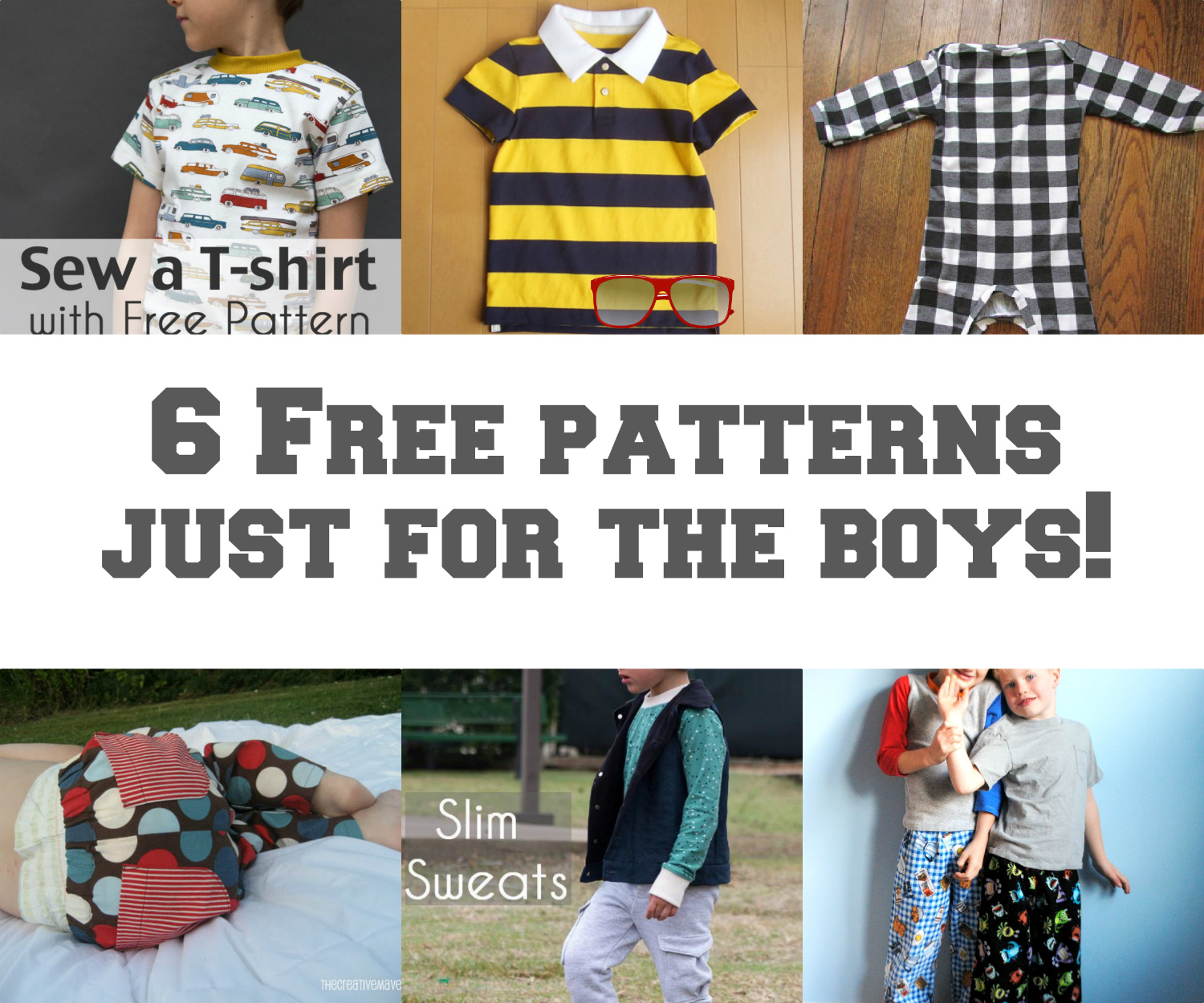 Seemesew 6 free patterns just for boys 6 free patterns just for boys jeuxipadfo Choice Image