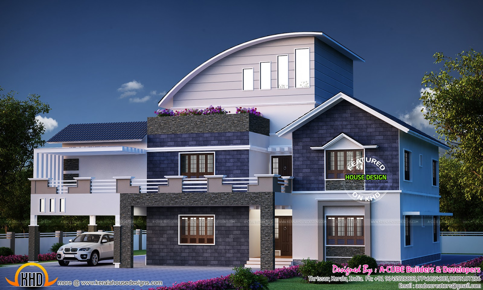 November 2015 kerala home design and floor plans for 2 level house