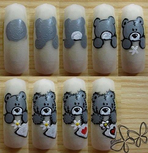 легкие рисунки на ногтях фото для начинающих