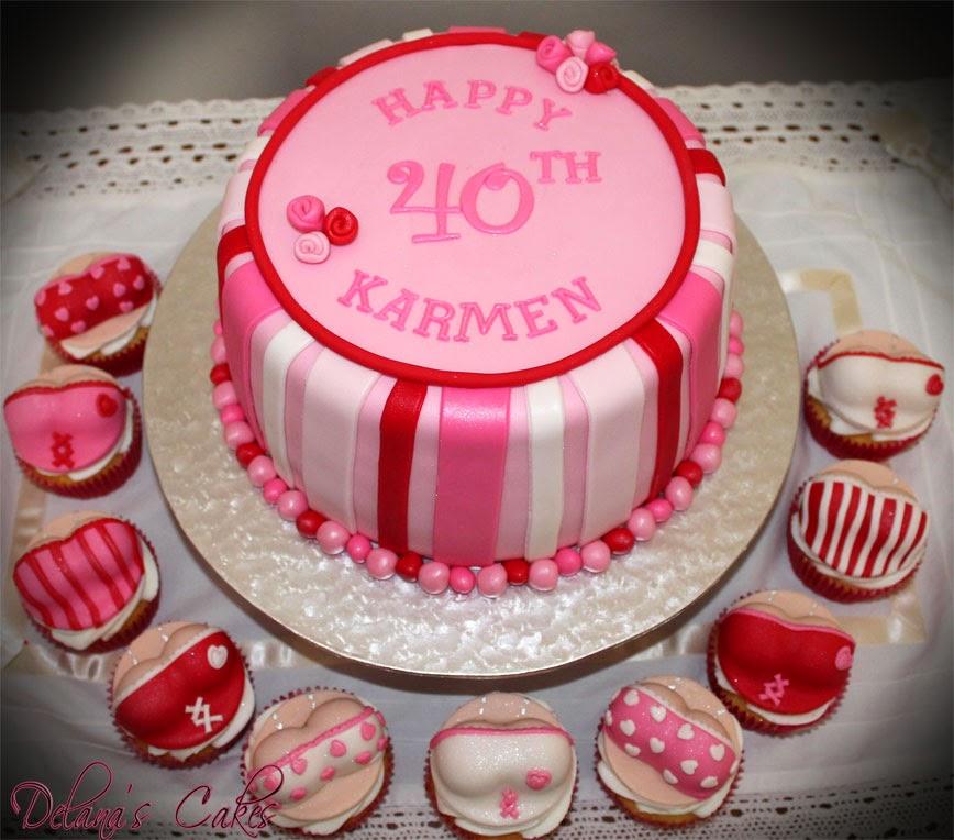 Delanas Cakes Naughty 40 Cake Cupcakes