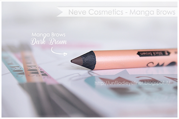 Manga Brows Rich Brown/Dark Brown Neve Cosmetics Swatch