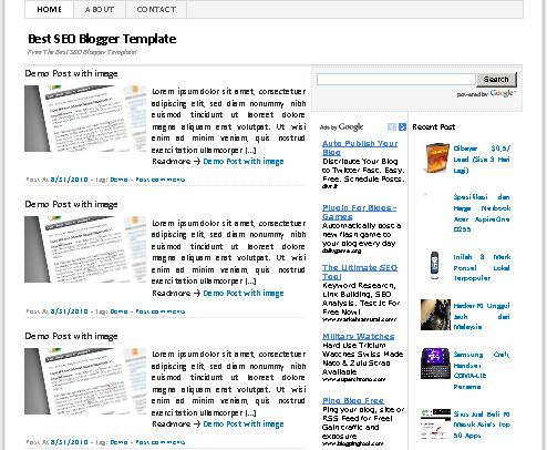 template free blogger ramah seo dengan fitur lengkap
