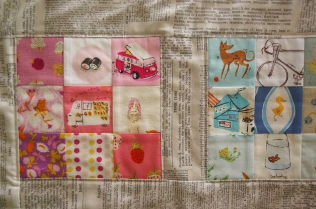 Weekend Tourist Mini Quilt from Sew Organized for the Busy Girl by Heidi Staples