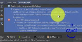 OpO ~ Mengatasi Error Gradle Pada Android Studio