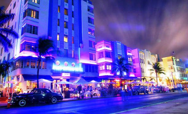 Ocean Drive Avenue Miami