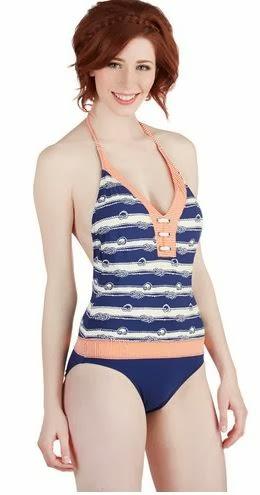 Modcloth Dock Diving one piece
