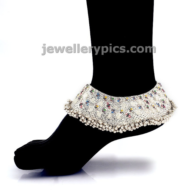 beautiful silver anklets for brides by grt jewels latest