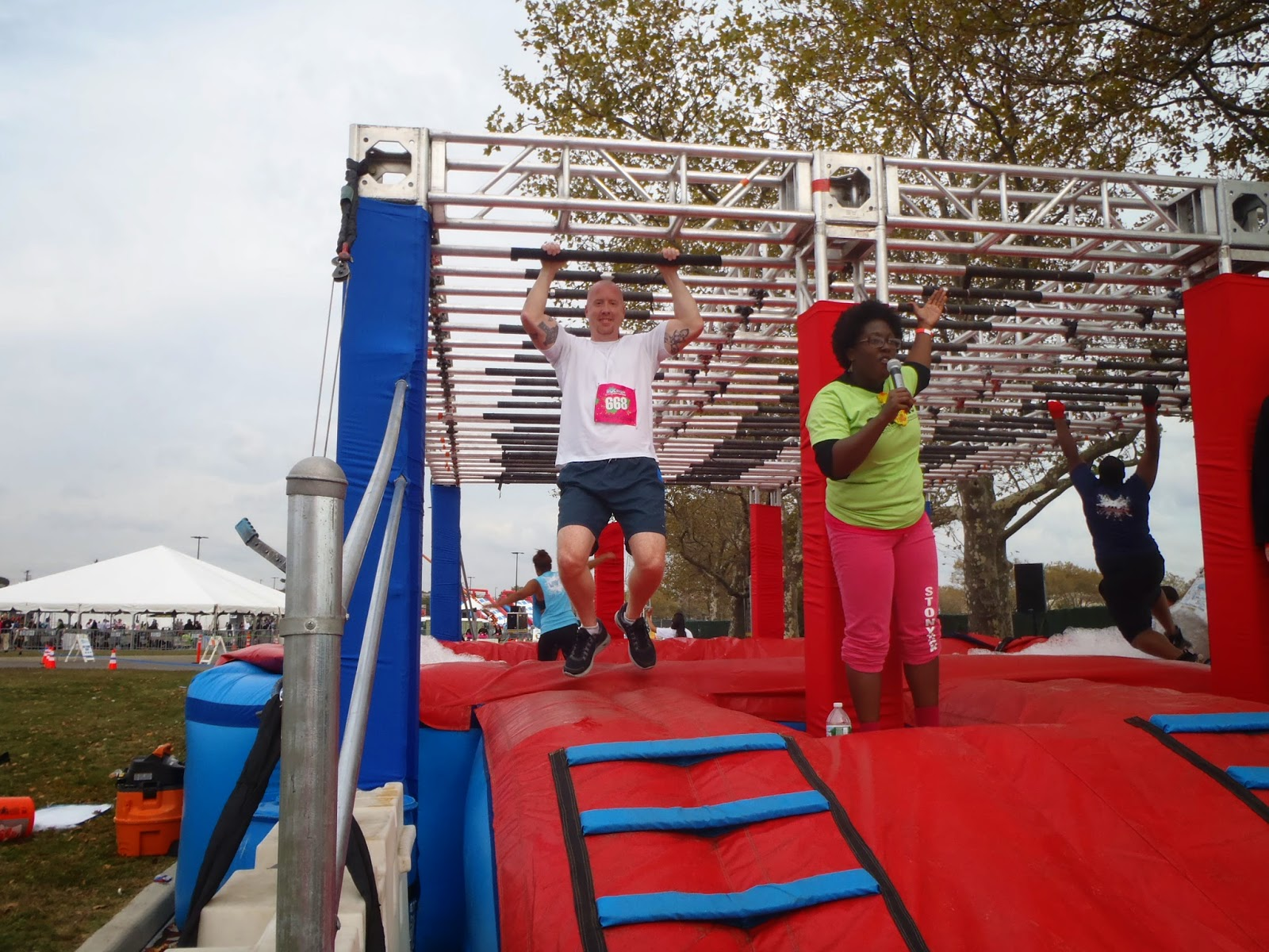 Ridiculous obstacle race monkey bars