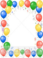 Balloon Borders Clipart2