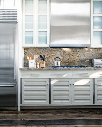 modern stainless appliances, coastal home interiors