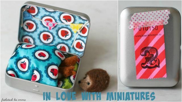 Miniaturen in der Dose..ein Eichhörnchenbett  Frühstück bei Emma