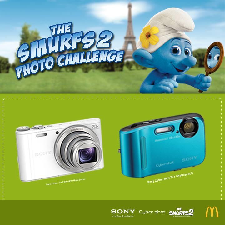 McDonalds The Smurf Photo Challenge