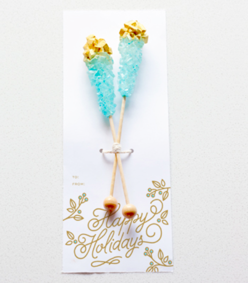 DIY Gold Rock Candy Favor and Printable | Confetti Pop via Sweet Tooth (image: Todd Hafermann)