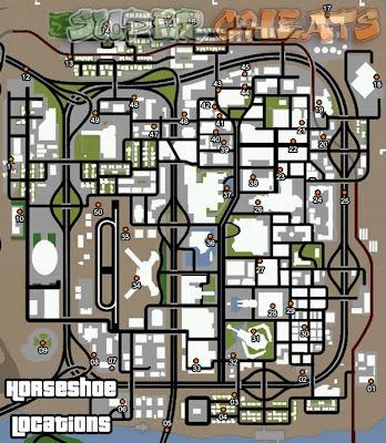 Peta lokasi GTA San Andreas