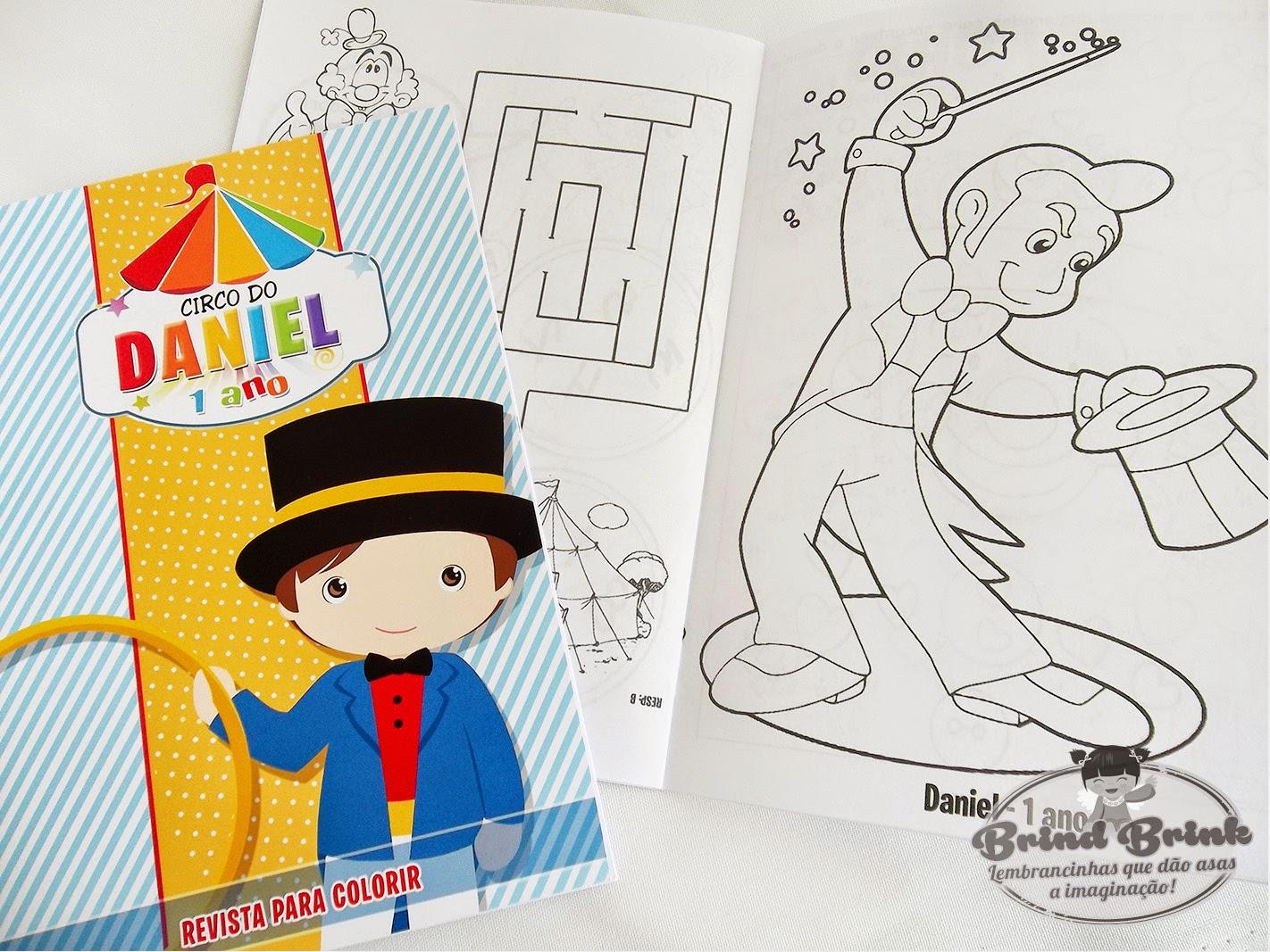 Revista com desenhos para colorir Circo