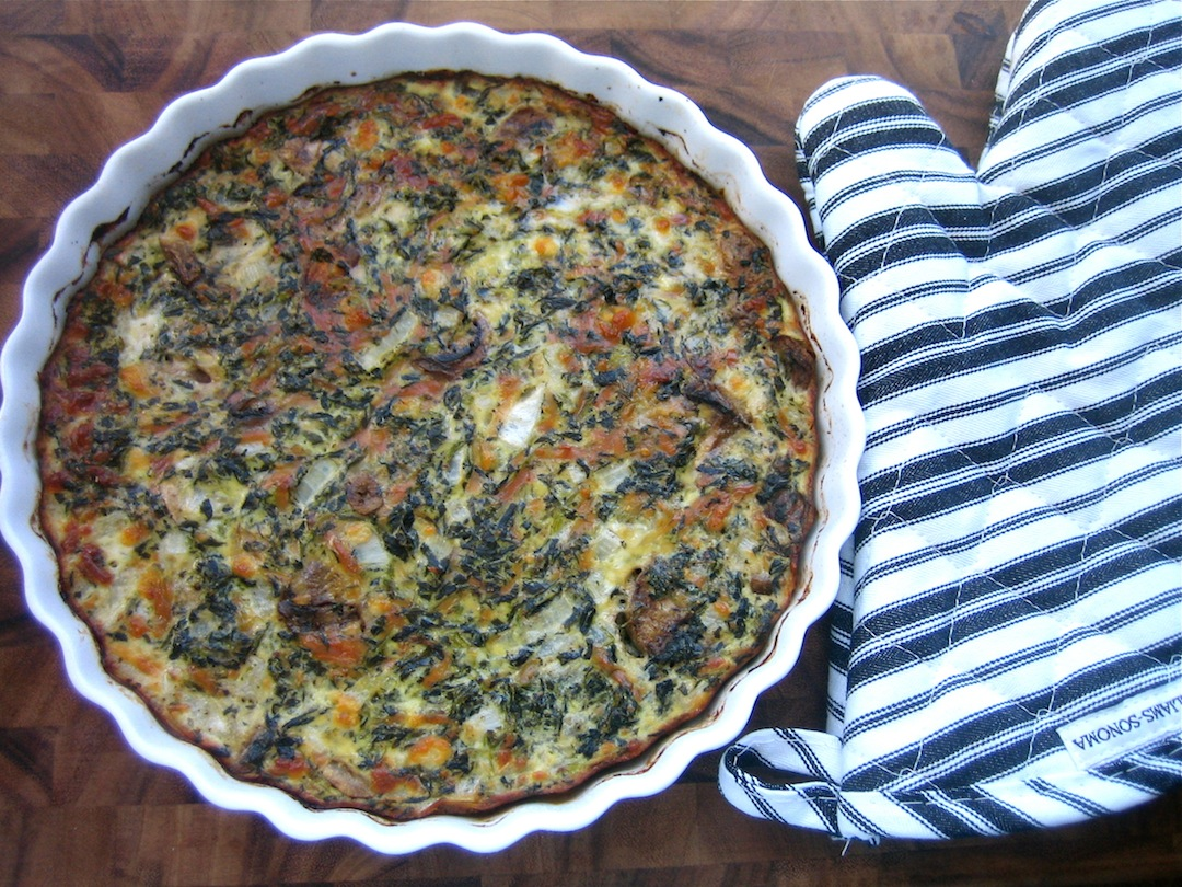 thyme for wine: Famous Crustless Spinach Quiche