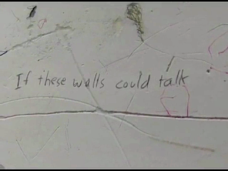 wall with the words if these walls could talk written on it