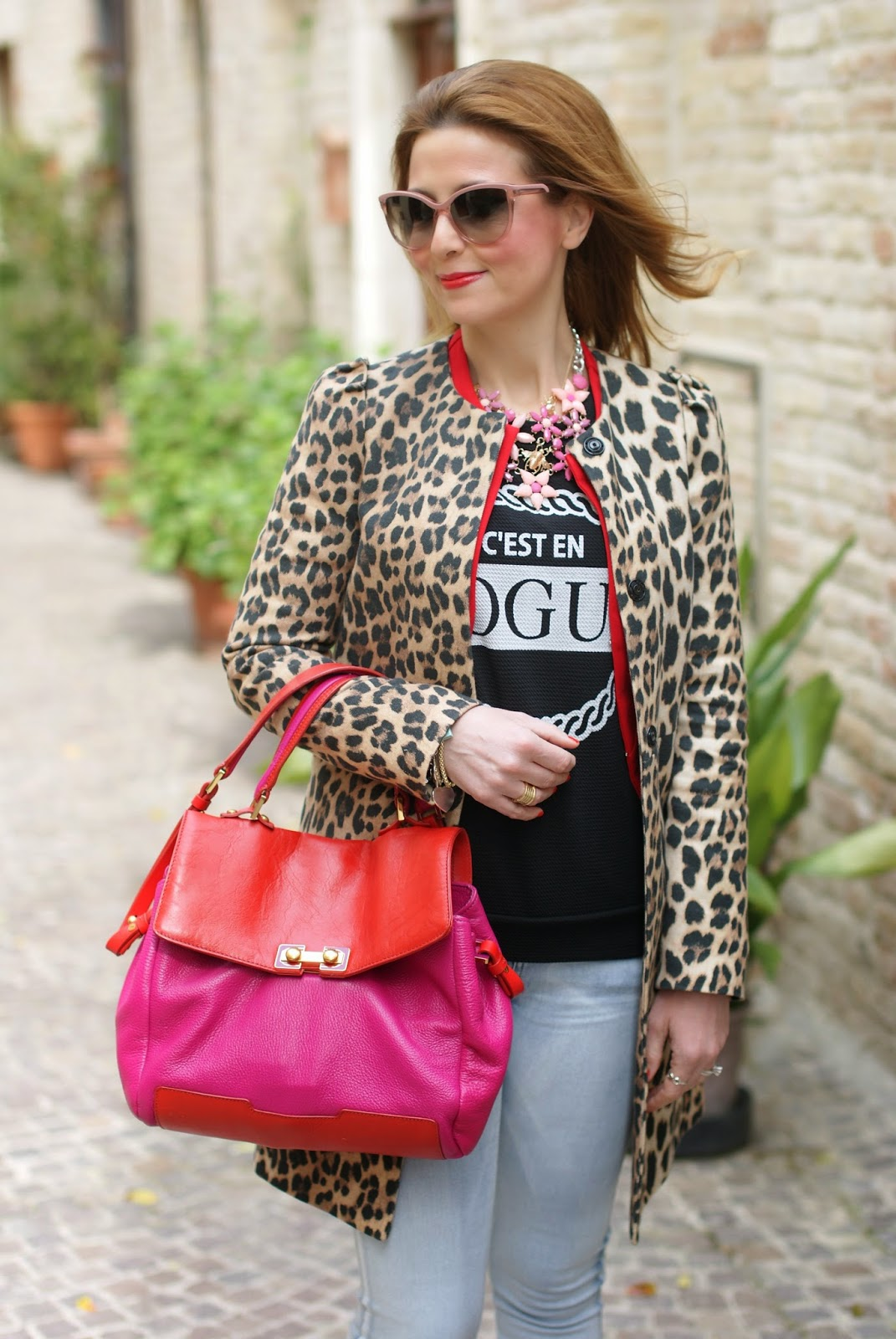 leopard jacket, leopard zara coat, Stella McCartney sunglasses, Fashion and Cookies fashion blog, fashion blogger streetstyle