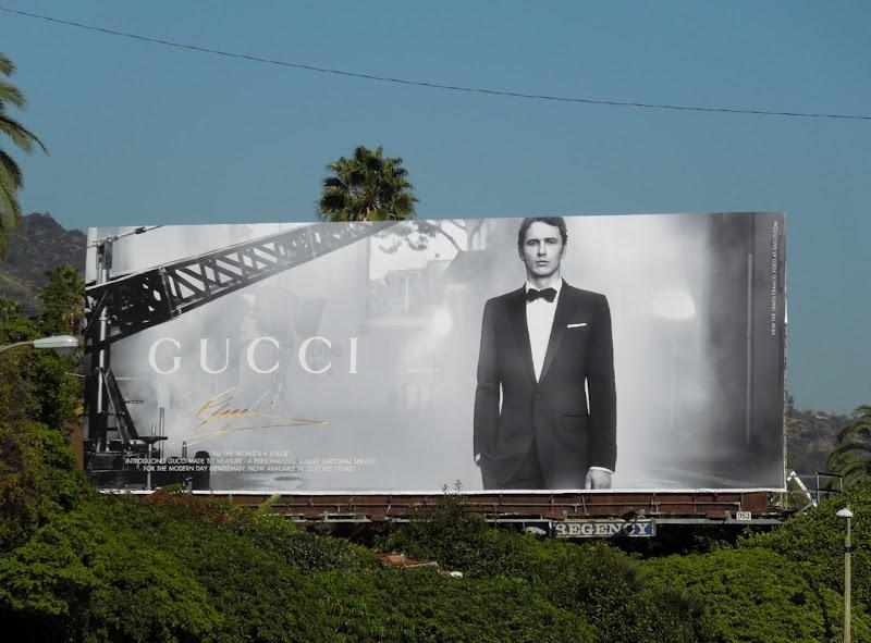 Gucci James Franco billboard