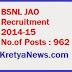 BSNL Recruitment 2014-15 JAO Junior Accounts Officer Notification
