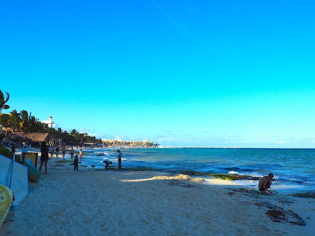Evening on the beach in Playa del Carmen, Mexico