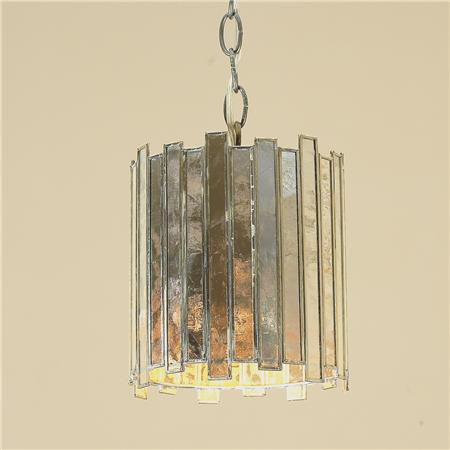 Shades of Light Mirrored High Rise Pendant