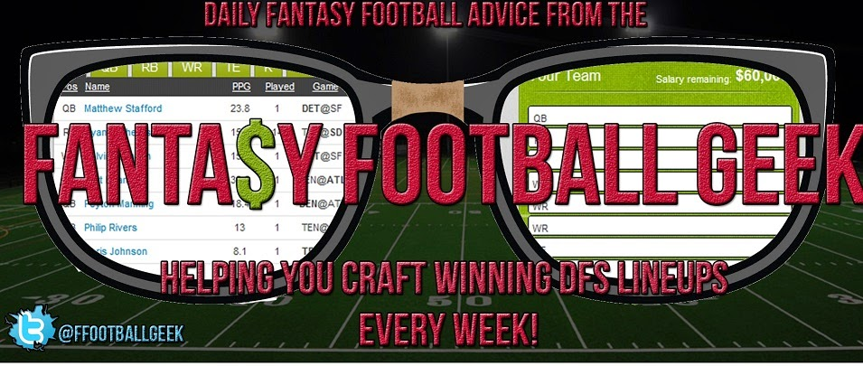 Daily Fantasy Football Strategy - Fanduel and Draftkings Lineup Advice