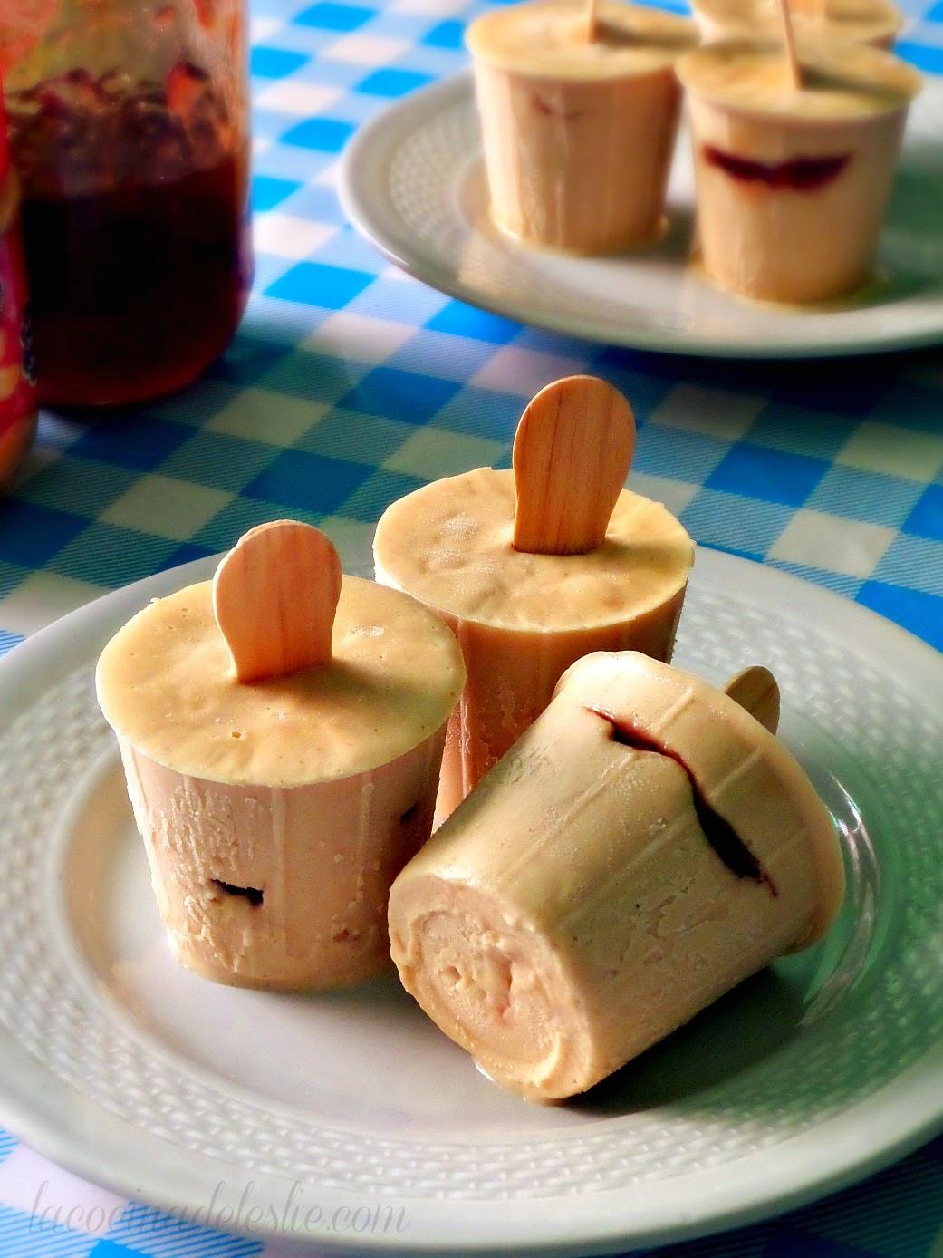 Paletas de Mantequilla de Maní y Mermelada - lacocinadeleslie.com