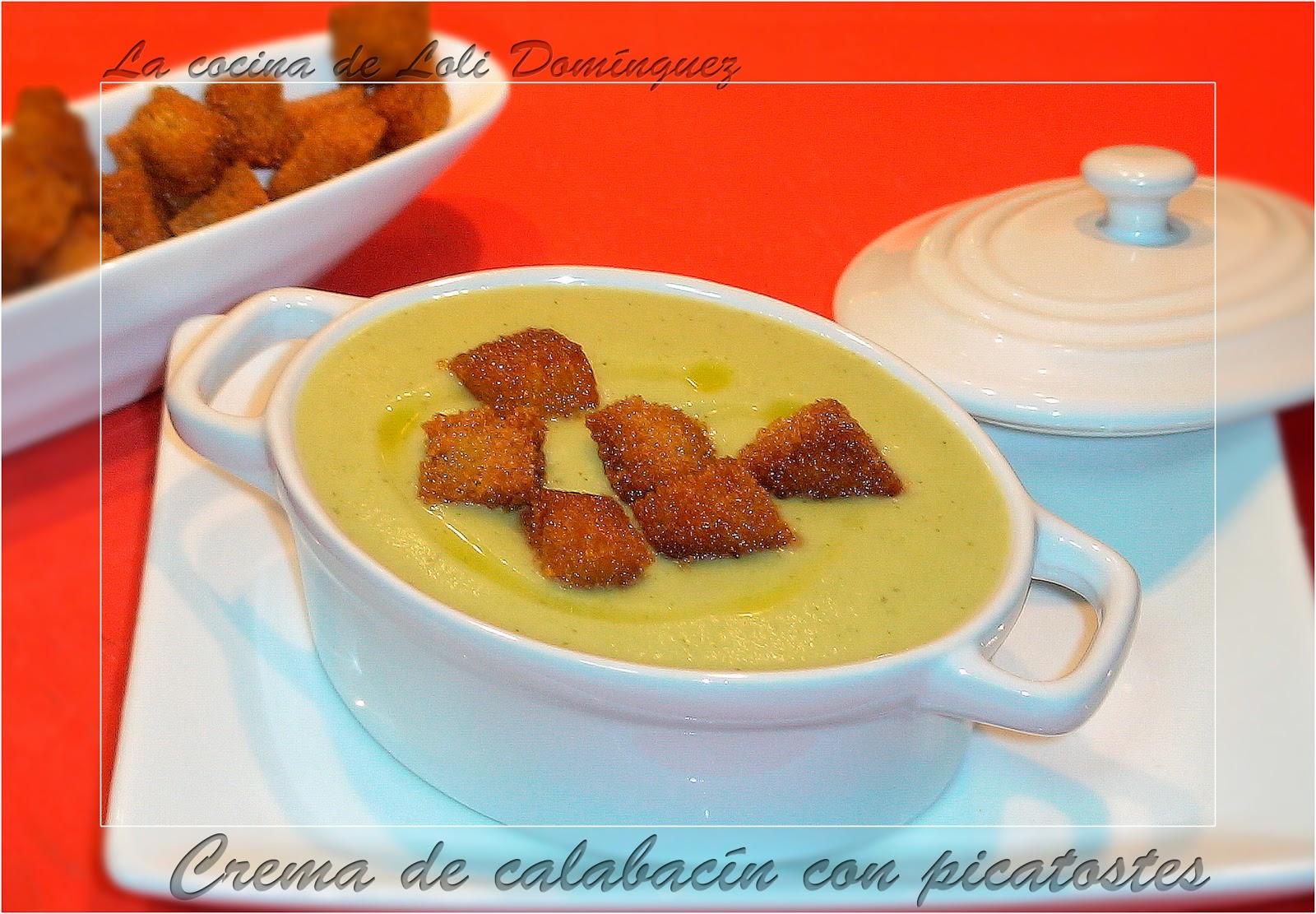 Crema De Calabacin Con Picatostes