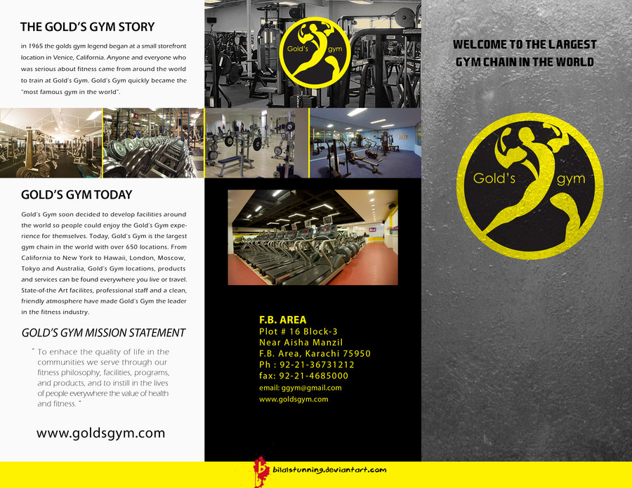 Brochures for gyms a marketing tool to attract more for Gym brochure template